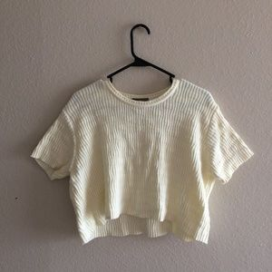 ✨80s vintage pale yellow knit crop top ✨